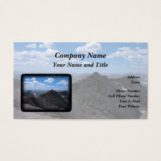 Colorado Rocky Mountains Moonscape Business Card
