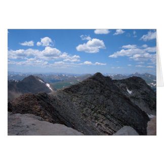 Colorado Rocky Mountains Moonscape Card