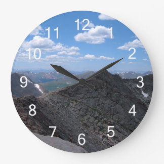 Colorado Rocky Mountains Moonscape Large Clock
