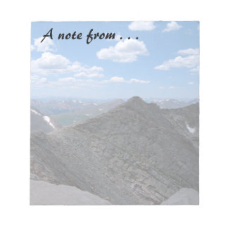 Colorado Rocky Mountains Moonscape Note Pad