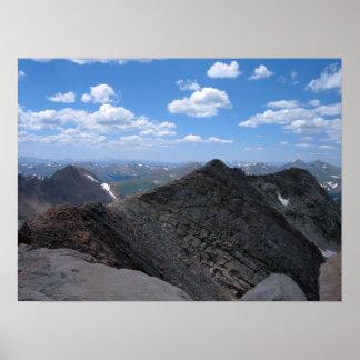 Colorado Rocky Mountains Moonscape Poster