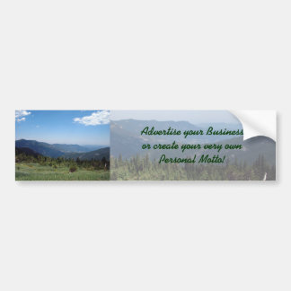Colorado Rocky Mountains Panorama Bumper Sticker