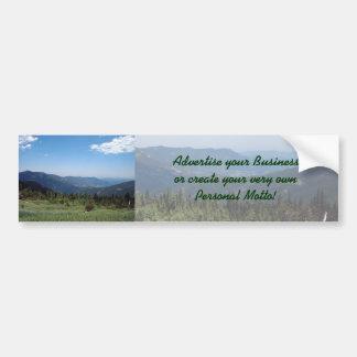 Colorado Rocky Mountains Panorama Bumper Sticker