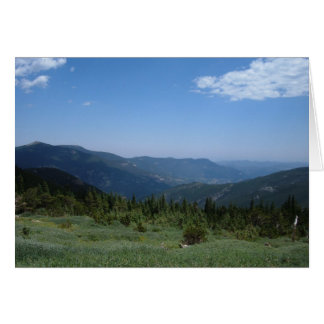 Colorado Rocky Mountains Panorama Card