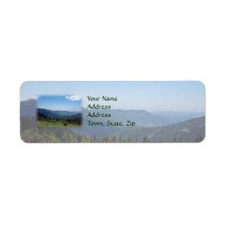 Colorado Rocky Mountains Panorama Label