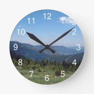Colorado Rocky Mountains Panorama Round Clock