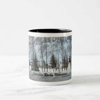 Colorado Rocky Mountains Two-Tone Coffee Mug