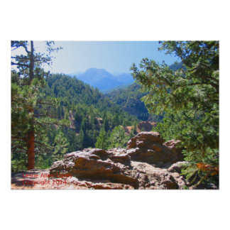 Colorado Rocky Mountains with red rocks Poster