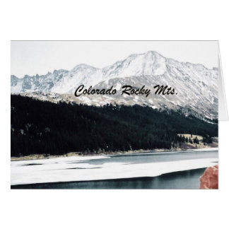 Colorado Rocky Mts. Card