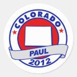 Colorado Ron Paul Round Stickers