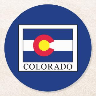 Colorado Round Paper Coaster