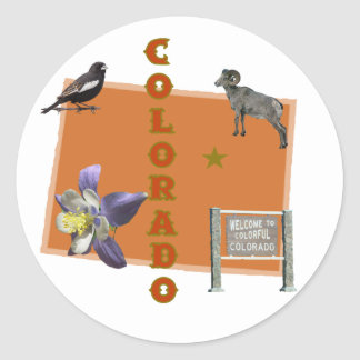 Colorado Round Sticker