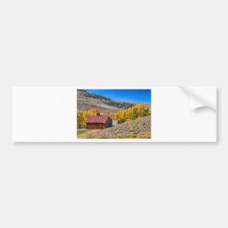 Colorado Rustic Rural Barn with Autumn Colors Bumper Sticker