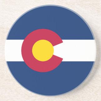 Colorado s Flag Beverage Coaster