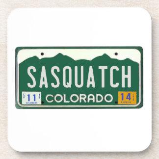 Colorado Sasquatch License Plate Beverage Coaster