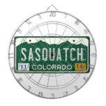 Colorado Sasquatch License Plate Dartboard