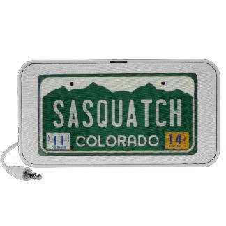 Colorado Sasquatch License Plate Speaker