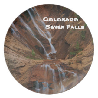 Colorado Seven Falls Melamine Plate