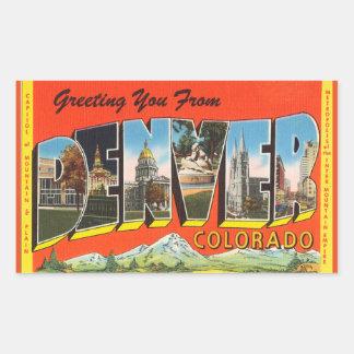 Colorado, Sheet of 4 Denver stickers