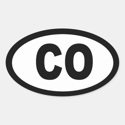 Colorado - sheet of 4 oval car stickers