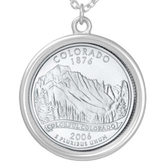 colorado silver plated necklace