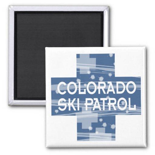 Colorado Ski Patrol 2 Inch Square Magnet
