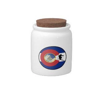 COLORADO SKI TIME CANDY DISH