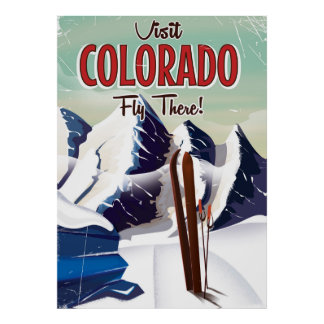 Colorado Ski travel poster
