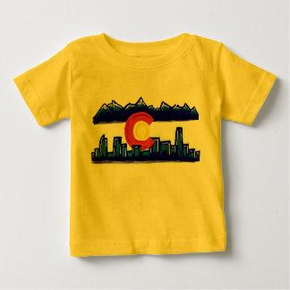 Colorado skyline baby shirt