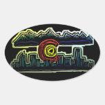 Colorado skyline fade stickers