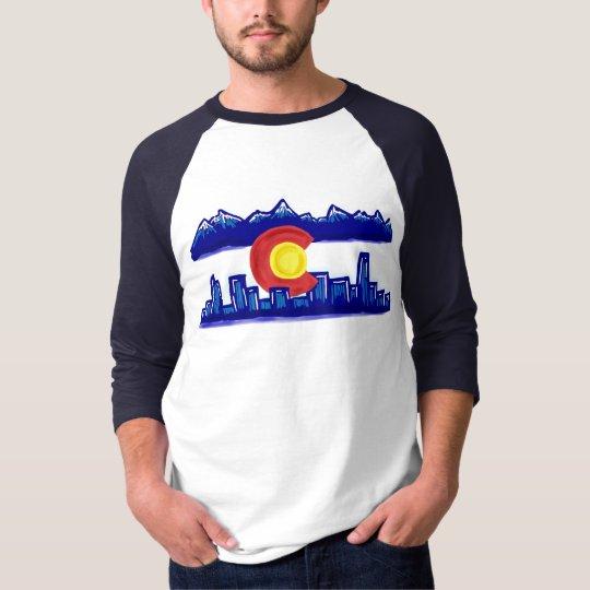 Colorado skyline guys shirt