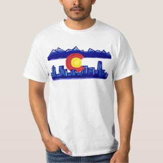 Colorado skyline guys value shirt