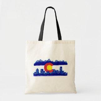 Colorado skyline reusable state flag bag