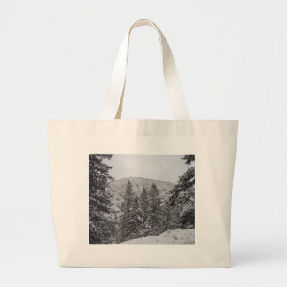 Colorado Snow Large Tote Bag