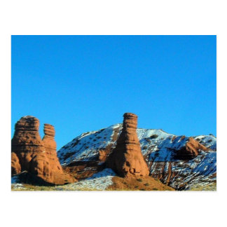 Colorado Snow On Rocks Postcard