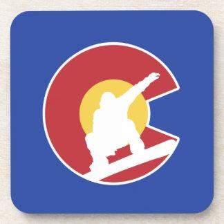 Colorado Snowboard Drink Coaster