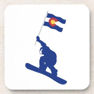 Colorado Snowboard Flag Drink Coaster
