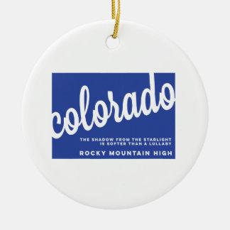 colorado | song lyrics | blue ceramic ornament