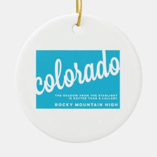 colorado | song lyrics | sky blue ceramic ornament