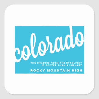 colorado   song lyrics   sky blue square sticker