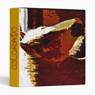 COLORADO Sorrel Horse In Profile Avery Binder