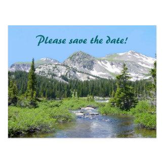 Colorado Splendor Save the Date Wedding Postcard
