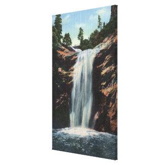 Colorado Springs, CO - Bridal Veil Falls Canvas Print