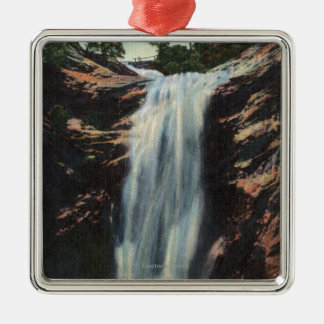 Colorado Springs, CO - Bridal Veil Falls Metal Ornament