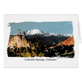Colorado Springs, CO Card