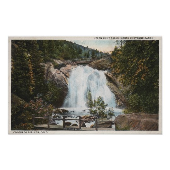 Colorado Springs, CO - Helen Hunt Falls Poster