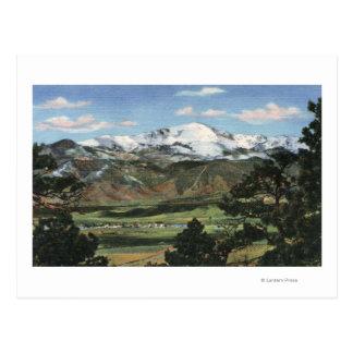Colorado Springs, CO - Pikes Peak Postcard