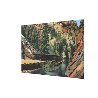 Colorado Springs CO - Trout Stretched Canvas Print
