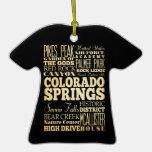 Colorado Springs Colorado City State Typography Christmas Ornament