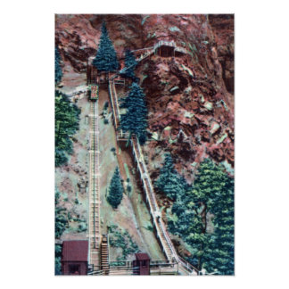 Colorado Springs Colorado Manitou Springs Incline Poster